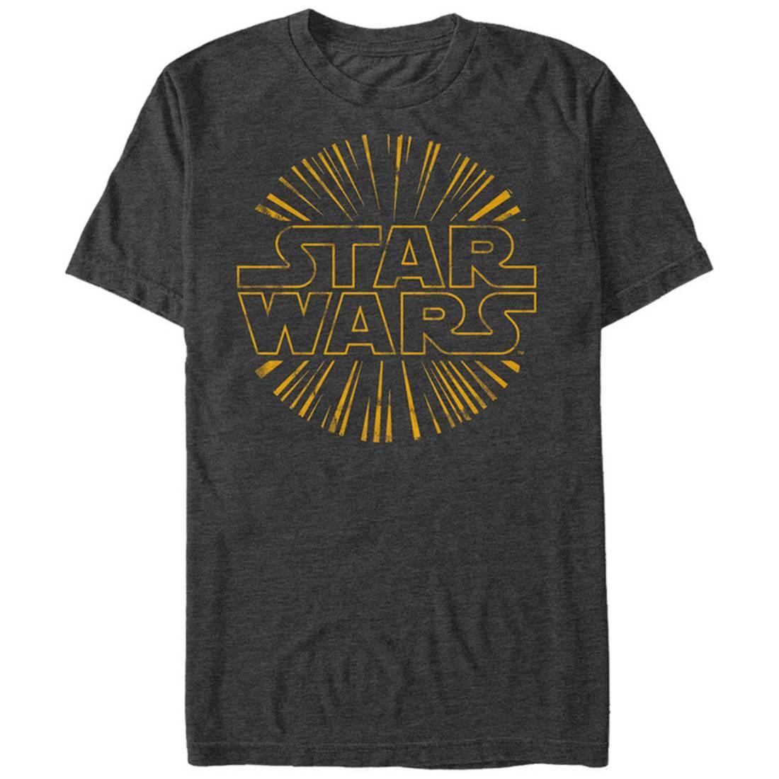 Star Wars- Star Burst Logo Apparel T-Shirt - Grey