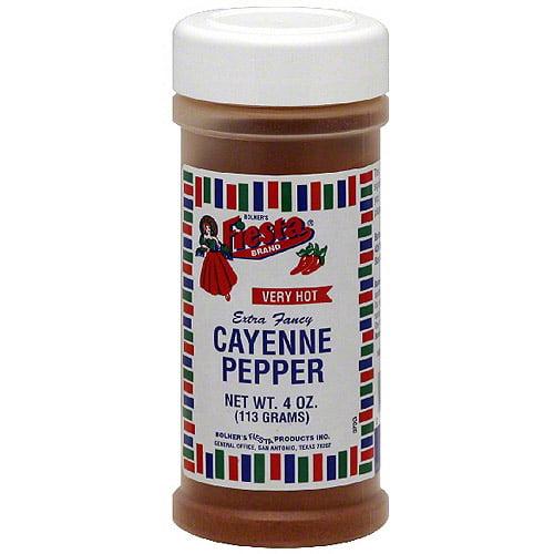 Fiesta Brand Cayenne Pepper, 4 oz (Pack of 6)
