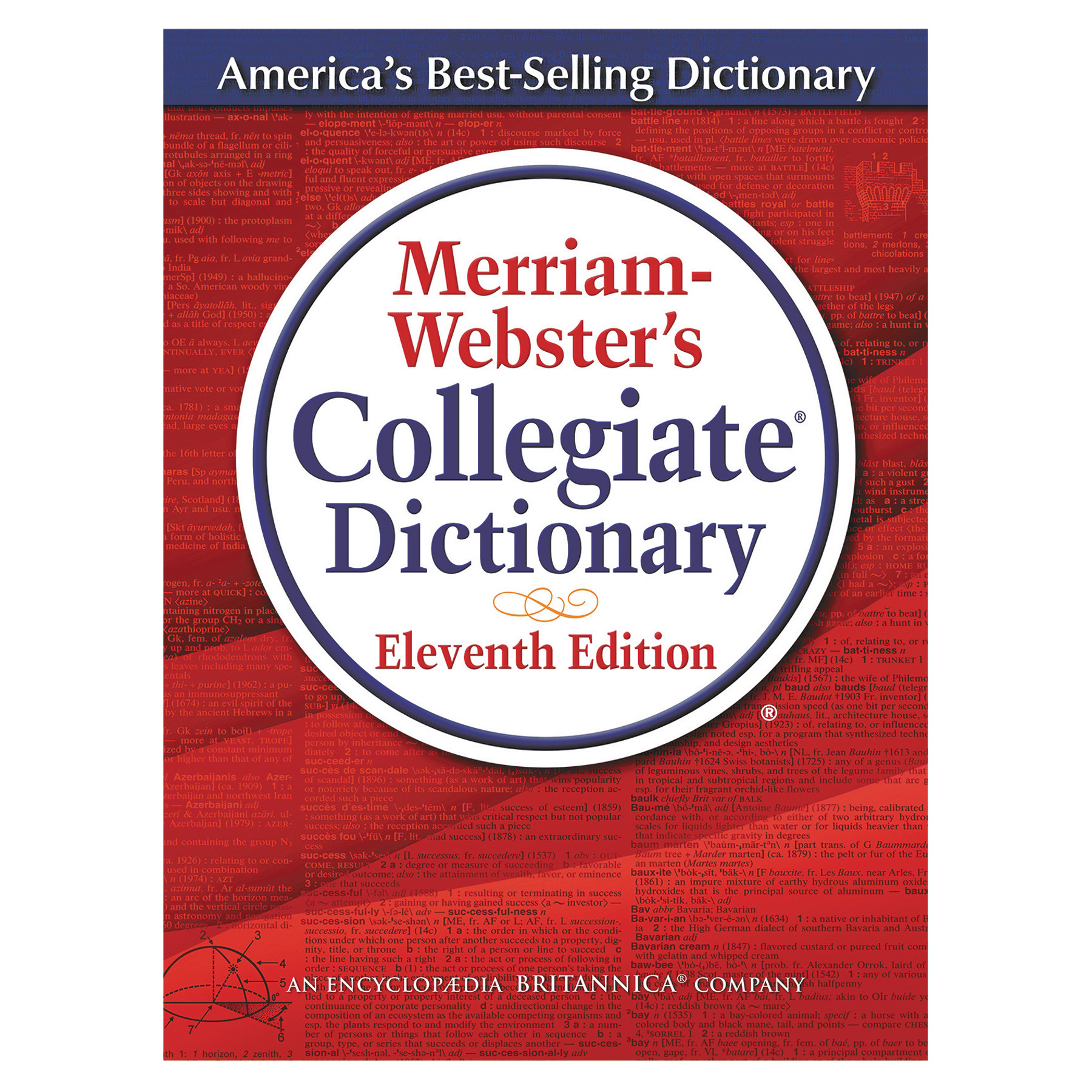 Merriam Webster Merriam-Webster's Collegiate Dictionary, 11th Edition, Hardcover, 1,664 Pages -MER8095