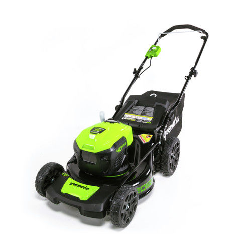 Click here to buy Greenworks G-MAX 40V 20 inch Brushless Dual Port Lawn Mower, Battery and Charger Not Included 2508802 by Sunrise Global Marketing, LLC.