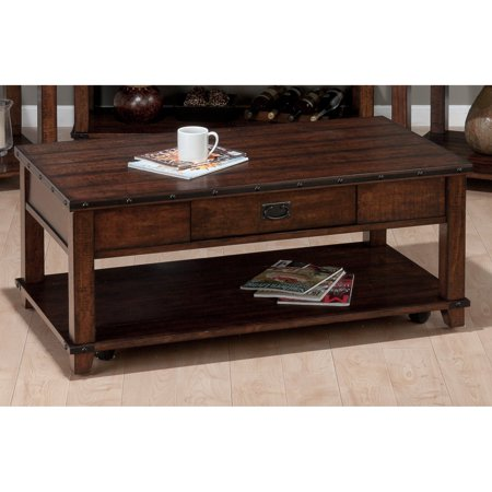 Jofran Cassidy Cocktail Table - Burnished Brown Jofran Fixed Top