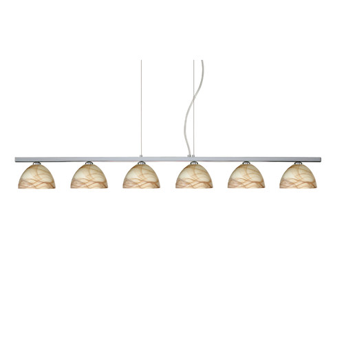 Besa Lighting Brella 6 Light Linear Pendant