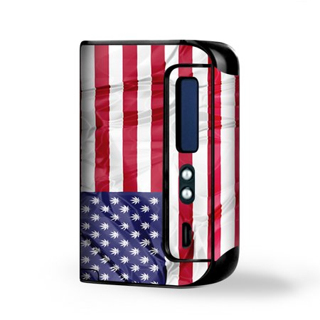 Skin Decal Vinyl Wrap For Smok Osub King 220W Vape Kit Skins Stickers Cover   American Flag Pot Leaf Stars Marijuana