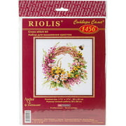 """Wreath With Firewood Counted Cross Stitch Kit, 11.75"""" x 11.75"""", 14 Count"""