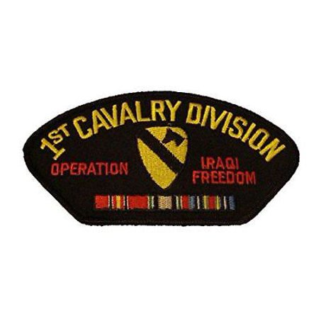 US ARMY FIRST 1ST CAVALRY DIVISION IRAQI FREEDOM PATCH W/ CAMPAIGN RIBBONS