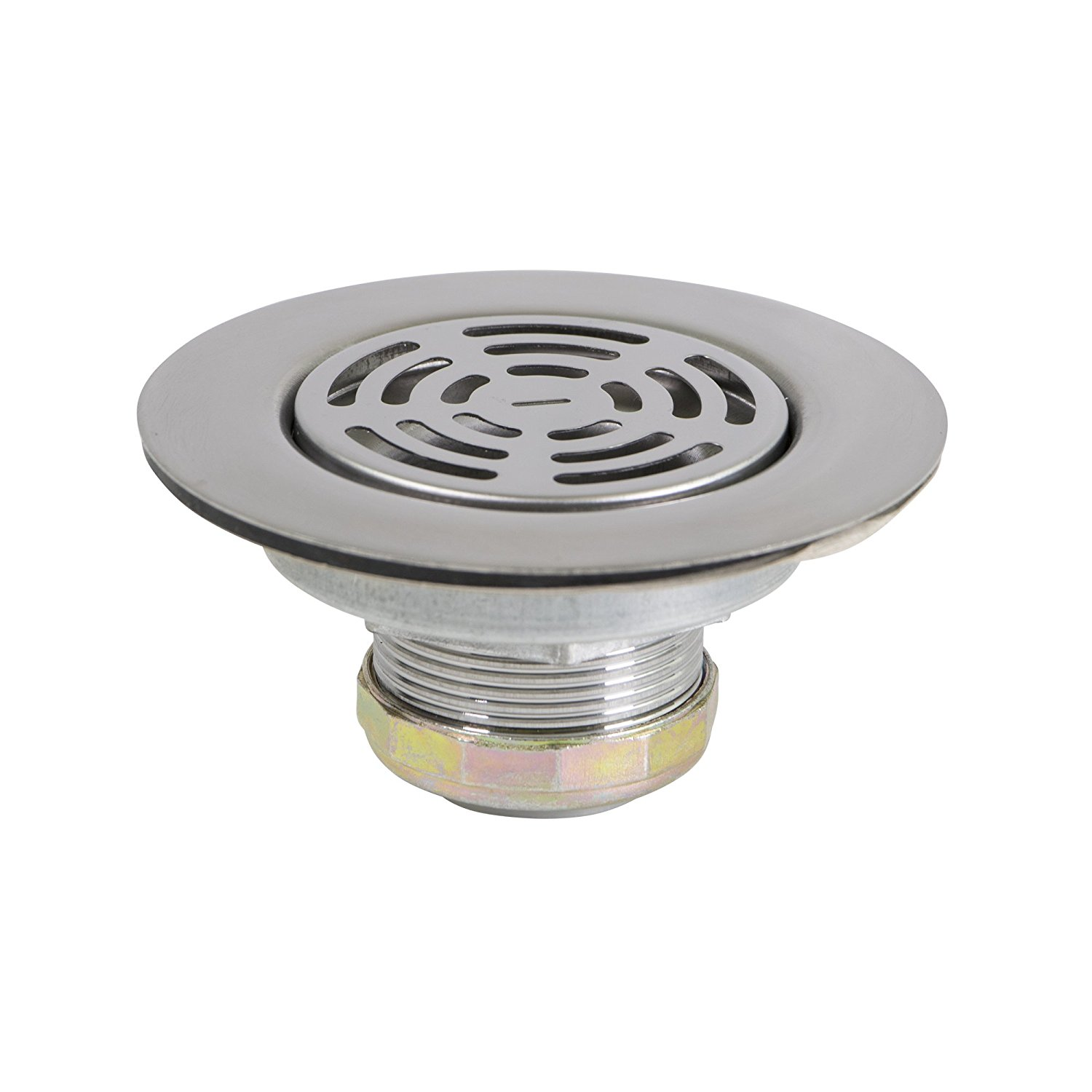 Everflow Flat Stainless Steel RV Mobile Shower Strainer Drain Assembly for Kitchen or Laundry Sinks� by Everflow