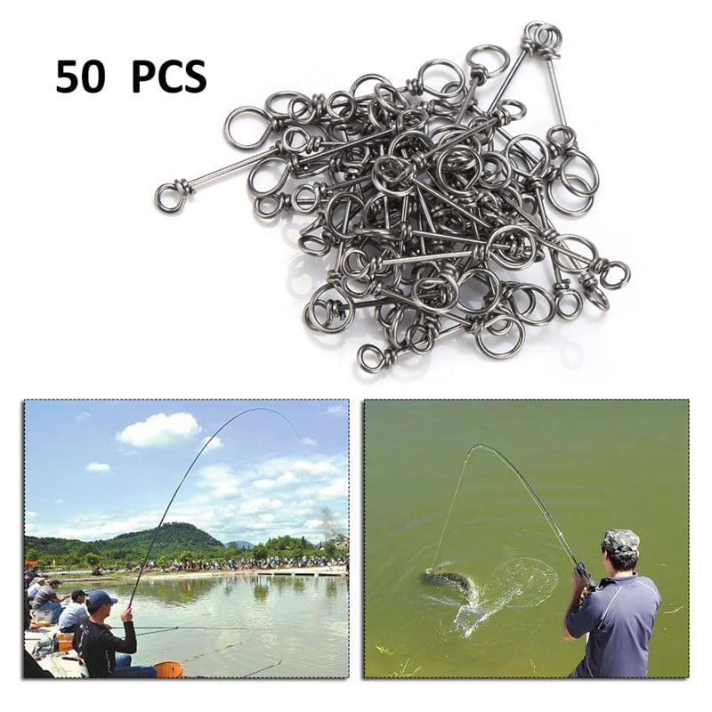 50pcs Spring Twist Lock Fishing Hook Centering Pin for Soft Lure Bait Worm Crank
