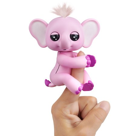 Fingerlings Baby Elephant - Nina (Pink) - Interactive Toy by (Pink Elephant Toy)