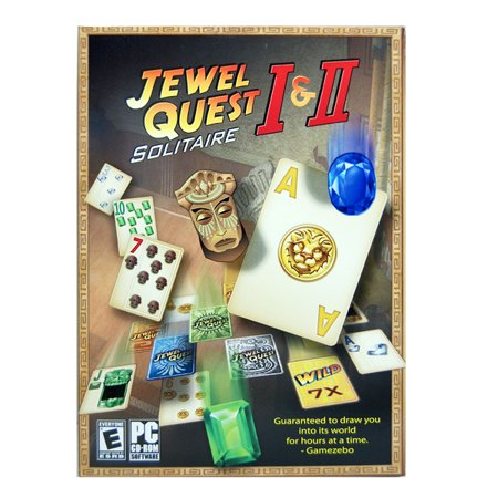 JEWEL QUEST SOLITAIRE I & II-PC CD-ROM Software (Pc Games Jewel Quest Solitaire)