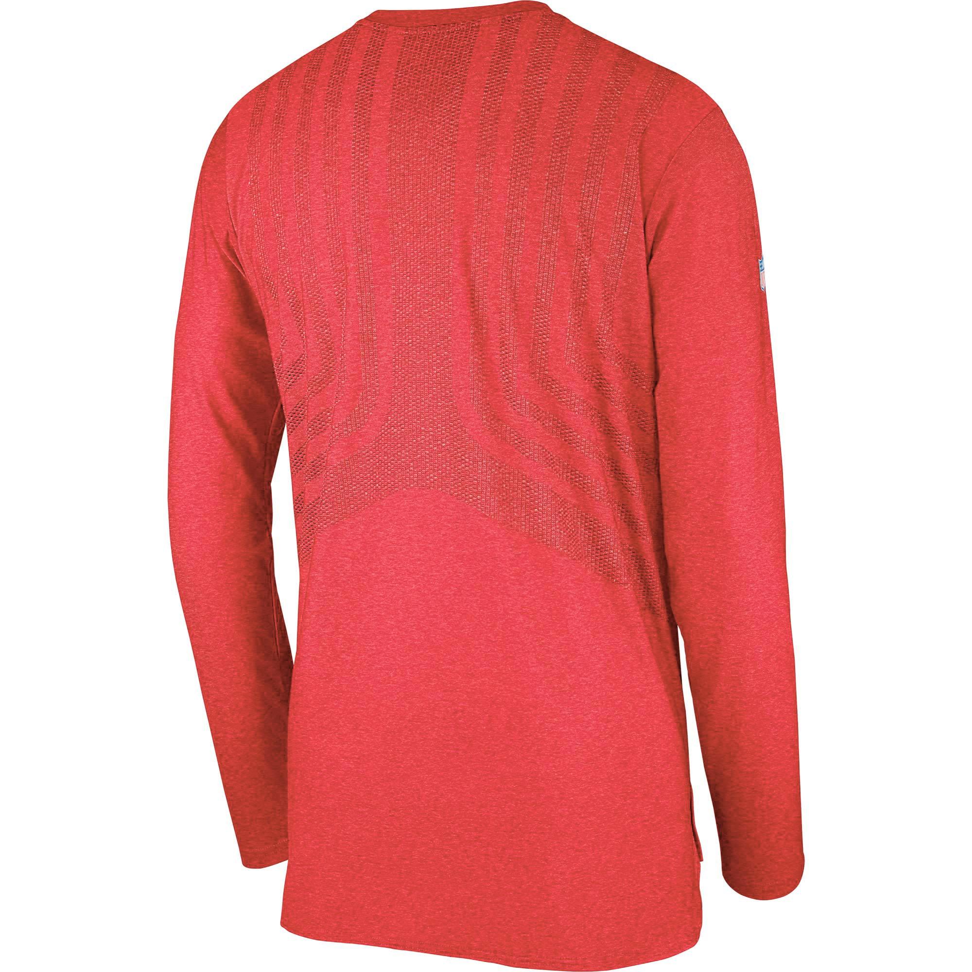 9b79ac95 Kansas City Chiefs Nike Sideline Player Long Sleeve T-Shirt - Red