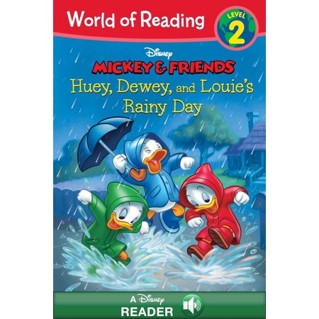 World of Reading: Mickey & Friends: Huey, Dewey, and Louie's Rainy Day Adventure - eBook