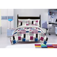Heritage Club Charlie Red, White, & Blue Geo Bed in a Bag Bedding Set