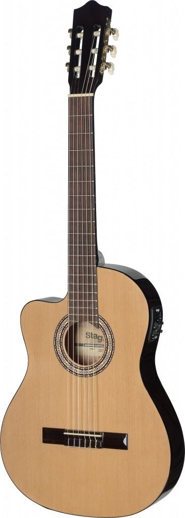 Stagg C546TCE-LH N Thin Body Cutaway Acoustic-Electric Classical Guitar, Left Handed... by Overstock