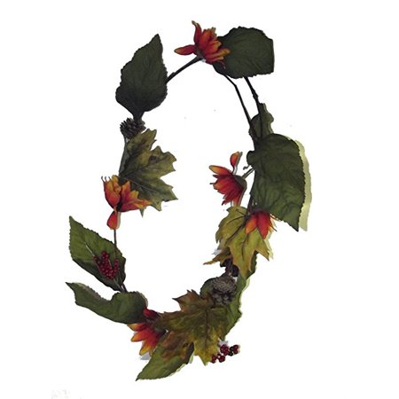 Assorted Leaves - WEST COAST CLOSEOUTS MAPLE LEAF GARLAND 6 FT. ASSORTED. CHOICES MAY VARY