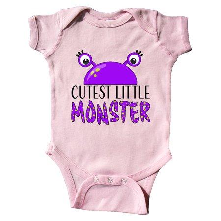 Cutest Little Monster- purple monster Infant Creeper](Monster Onsie)