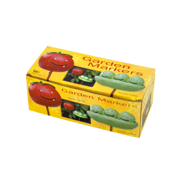Tomato ; Peas Garden Markers Set (Pack Of 24)