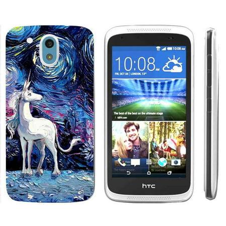 [NakedShield] HTC Desire 526 [Clear] Ultra Slim TPU Phone Cover Case [Starry Night Unicorn