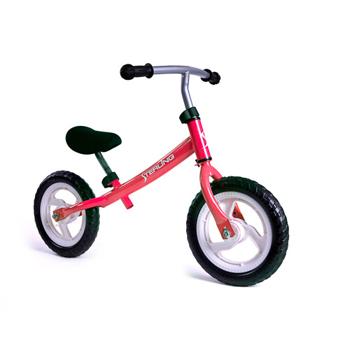"WonkaWoo Ride and Glide Mini-Cycle Balance Bike, Red, 12"""