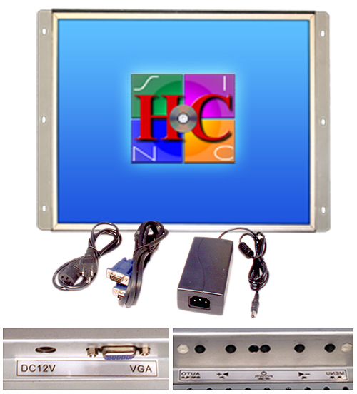19 Inch Arcade Game LED Monitor, for Jamma, MAME, and Cocktail game cabinets, also industrial PC panel mount. by RetroArcade.us