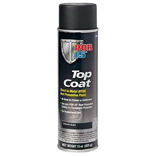 POR-15 45918 Chassis Black Top Coat - 15 fl. oz.