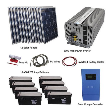 Radiator 5000 Watt.Aims Power Kitb 5k24120 C2 5000 Watt Solar Inverteroff Grid Kit