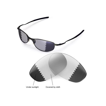 d68d39261c Walleva - Walleva Transition Photochromic Polarized Replacement Lenses for Oakley  Tightrope Sunglasses - Walmart.com