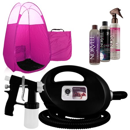 Black Fascination FX Spray Tanning Kit with Tan Solution and Pink (Best Professional Spray Tan Machine)