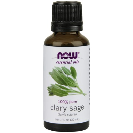 NOW Essential Oils, Clary Sage Oil, Focusing Aromatherapy Scent, Steam Distilled, 100% Pure, Vegan, 1-Ounce