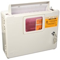 SharpSafety In-Room Sharps Box Wall Enclosure 85161H, 2 and 5 Quart, 1 Each