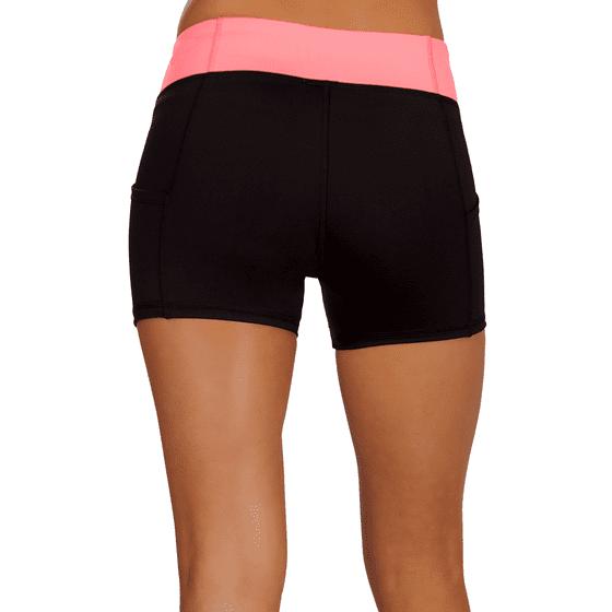 6e48dab3ee Simlu - High Waisted Boyshorts for Women, Short Bicycle Shorts, Yoga ...