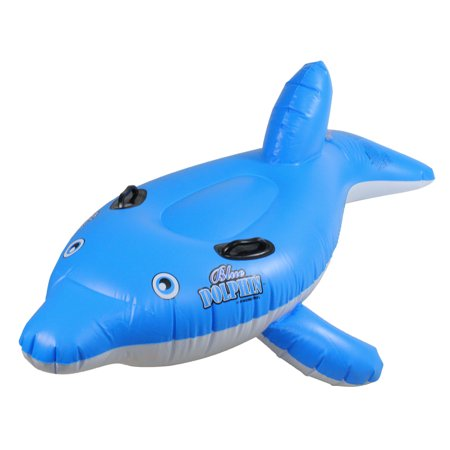 Swimline 61 Quot Inflatable Ride On Dolphin 1 Person Swimming