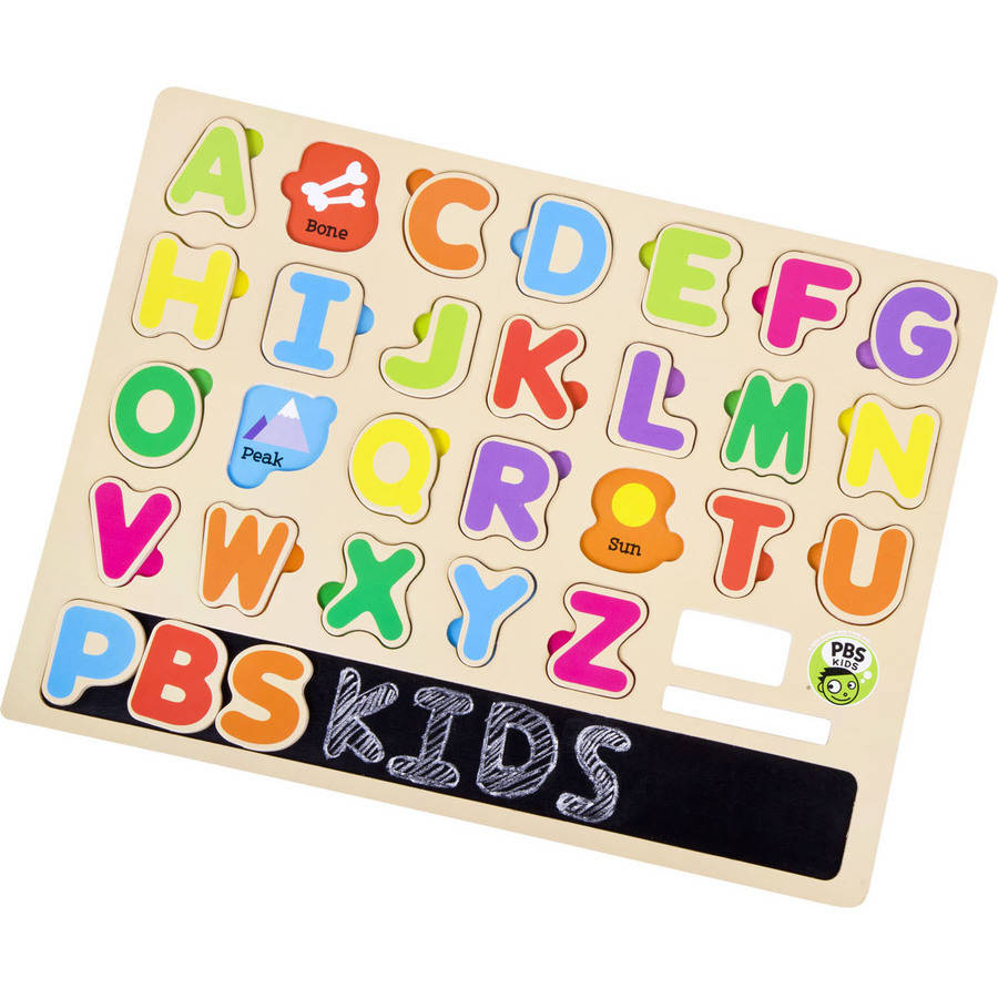 PBS Kids Wooden Alphabet Puzzle