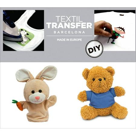 "Textil Transfer Fabric Iron-Ons 2""X4""-Lovely Teddies - image 1 de 1"