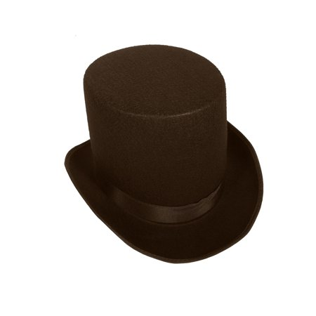 Medium Black Coachman Costume Tall Top Hat Victorian Dickens Accessory (Cheap Black Top Hats)