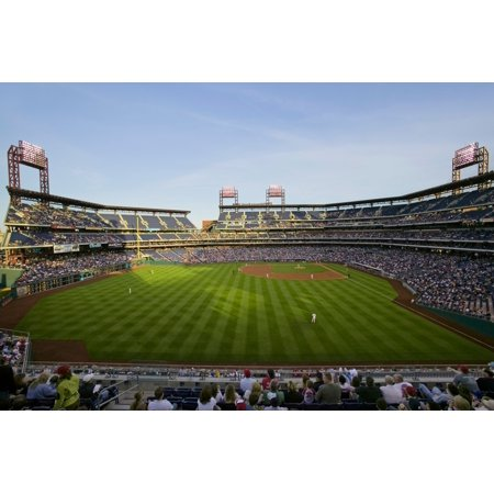 Panoramic View Of 29183 Baseball Fans At Citizens Bank Park Philadelphia Pa Who Are Watching Philadelphia Phillies Beat The Milwaukee Brewers By A Score Of 8 To 6 On May 14 2007 Poster Print By Panora