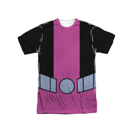 Teen Titans Go! Animated DC TV Show Beast Boy Uniform Adult Front Print T-Shirt (Teen Titans Beast Boy)