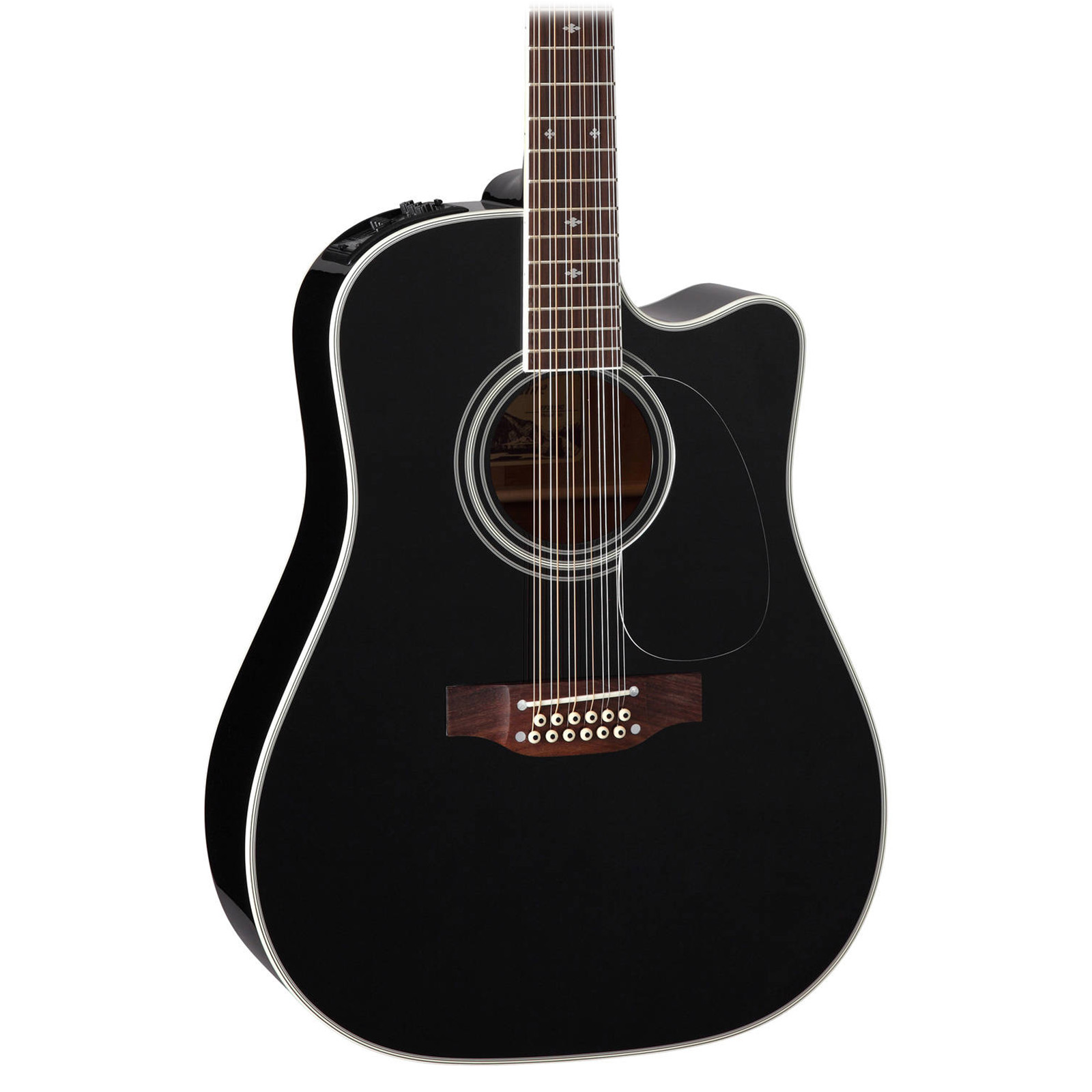 Takamine EF381SC 12-String Acoustic Electric Guitar in Black