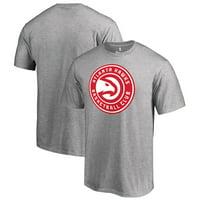 Atlanta Hawks Fanatics Branded Primary Logo T-Shirt - Heather Gray