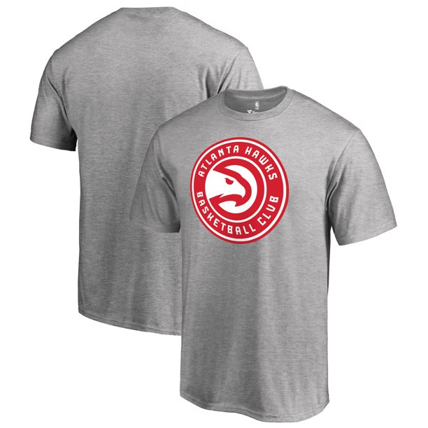 Atlanta Hawks Fanatics Branded Primary Logo T-Shirt - Heather Gray