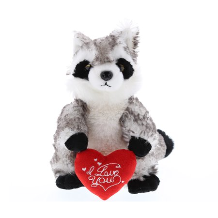 Super Soft Plush Dollibu Raccoon I Love You Valentines Plush