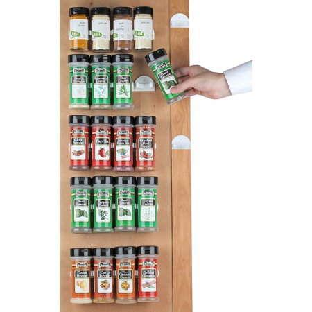 - HousewaresGoods Spice Rack, Spice Racks for 20 Cabinet Door, Use Spice Clips for Spice Organizer Spice Storage Spice Clips