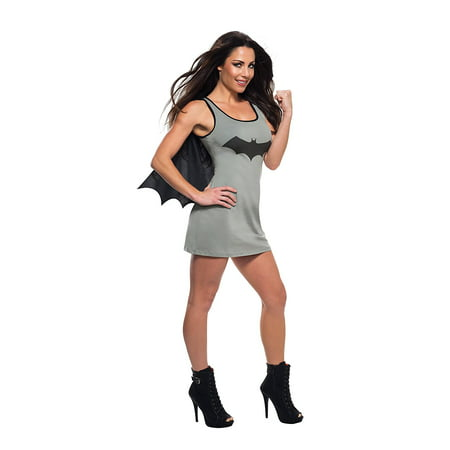 Rubies Classic Batman Batgirl Tank Dress With Cape Costume Dress, Grey Black - Batman And Batgirl Couple Costume