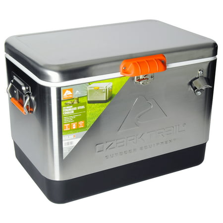 Ozark Trail 54 Quart Stainless Steel Cooler (51L) , 85 Can Capacity Cold Steel Trail Hawk