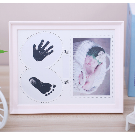 Baby Footprint Poem - Baby prints Handprint and Footprint Photo Frame Kit with an Included Clean-Touch Ink Pad to Create Baby's Prints - High-grade material - safe and non-toxic