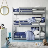 Better Homes & Gardens Tristan Triple Bunk Bed, Mocha