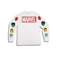 Men's Disney Marvel Super Hero Movies Spider Man Iron Man Captain America Hulk Long Sleeve Graphic T Shirt