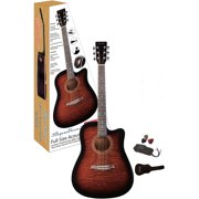 Spectrum AIL 44TGB Full Size Brindled Acoustic Guitar with Gig Bag