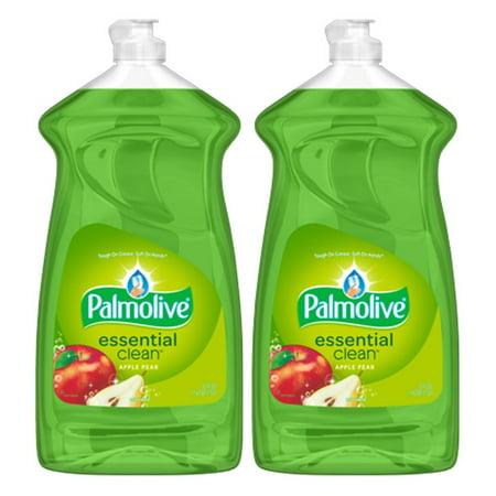 - (2 Pack) Palmolive Liquid Dish Soap Essential Clean, Apple Pear - 52 fluid ounce