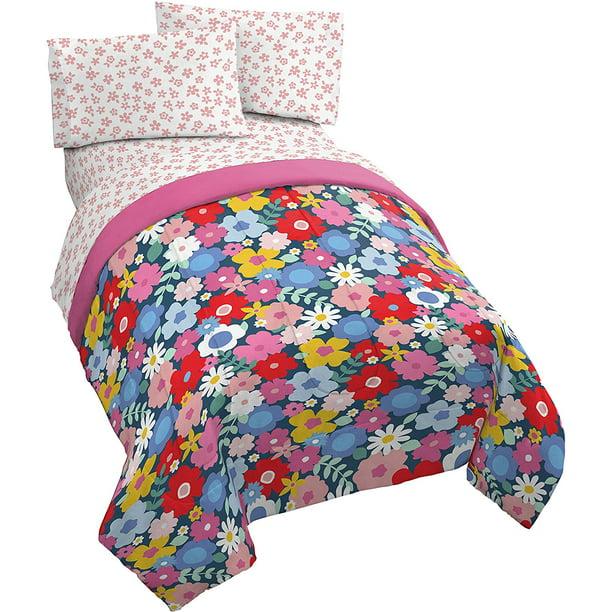 Jay Franco Vintage Bird 4 Piece Twin Bed Set Super Soft Fade Resistant Microfiber Includes Comforter /& Sheet Set