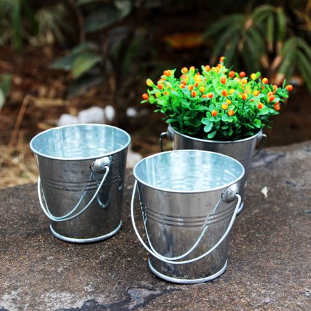 Mini Metal Iron Bucket Candy Keg Pails DIY Wedding Party Favour - Mini Metal Buckets